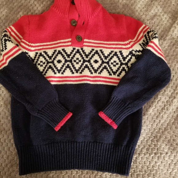 Gap kids Other - Boys red/navy 2 button sweater